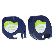 Compatible DYMO Colour LetraTag Tapes Paper/Plastic Label 12mm Tape 1/2'' x 13ft