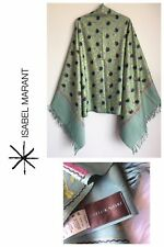 ISABEL MARANT ART TO WEAR EMBROIDERED FLORAL FRINGE WOOL SHAWL NWOT