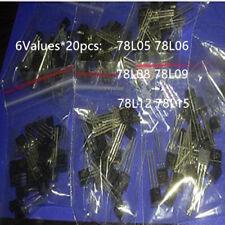 120PCS 78L05 78L06 78L08 78L09 78L12 78L15  6Values*20pcs  Transistor package