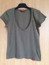EDC Esprit Basic Shirt, Khaki, Größe XXS, Damen Shirt