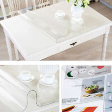 """PVC Clear Tablecloth Transparent Cover Waterproof Protector Mat Wipe Clean 47"""""""