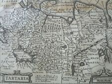 1634 Mercator Hondius Tartaria, Tartary Caucasus Siberia Mongolia Mapa Map Carte