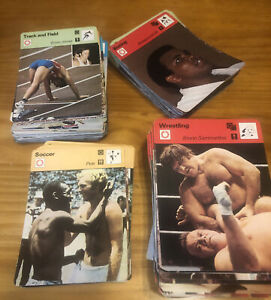 1977-79 Sportscaster Card Collection 300+ Cards-Ali, Bruce Lee, Pele Olympics