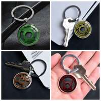 Green Red Lantern Corps Logo keychain Silver Keyring Pendants Keychains Gifts
