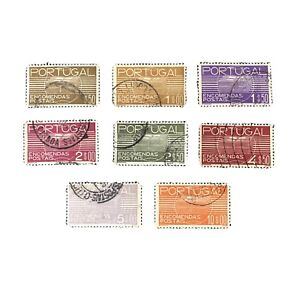 PORTUGAL, SCOTT # Q18-Q25(8), COMPLETE SET 1936 PARCEL POST ISSUE USED
