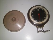 Vtg Denmark EVA wall mount scale kg lbs with measuring bowl Scandinavian 1960's