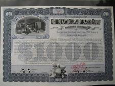 Choctaw Oklahoma and Gulf Railroad  1903 1000 $