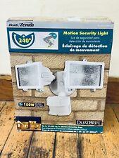 Heath Zenith DUALBrite Motion Sensing Halogen Security Floodlight White Security