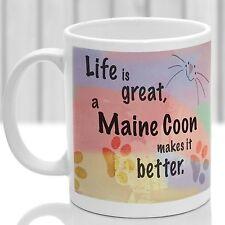 Maine Coon Cat Mug, Maine Coon chat cadeau, idéal cadeau pour chat amoureux