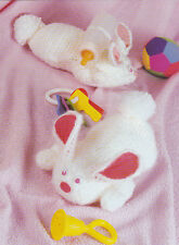 Crochet Pattern ~ HUGGY BUNNY Easter Stuffed Animal Kids Toy ~ Instructions