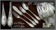 VR French Sterling Silver Dinner Flatware Set 24 Pieces