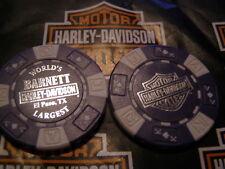 Purple & White Poker Chip Barnett Harley Davidson El Paso, TX