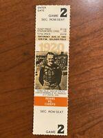 1983 Chicago Bears vs Kansas City Chiefs Ticket Walter Payton George Halas