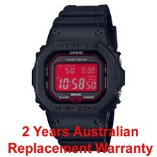 CASIO G-SHOCK BLUETOOTH SOLAR MULTIBAND-6 WATCH GWB5600 BLACK x RED GW-B5600AR-1