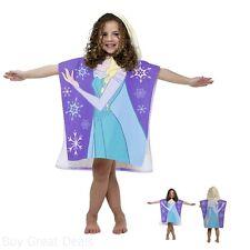 Home Kids Bathroom Disney Frozen Elsa Hooded Towel Poncho Washcloth Cotton Girls