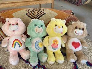 "Lot Of 4 Vintage Care Bears 18"" Big Plush Kenner"