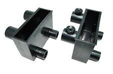2 Outflow Boxes for Aqua Medic Turboflotor 1000 Multi Aquarium Skimmer