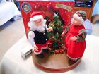 Gemmy Dancing Claus Couple, Animated Musical Figures, Sleigh Ride, Jingle Bells