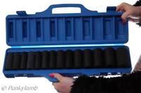 "14pc 1/2"" inch Drive Deep Impact Metric Socket Set Air Garage Sockets 10-32mm"