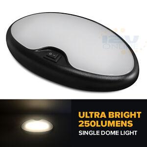 RV Boat Interior LED Ceiling Light Fixtures 12 volt Camper Lights Black Shell