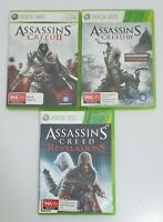 3x ASSASSIN'S CREED II 2 III 3 Revelations Xbox 360 Games Bundle PAL AU SELLER