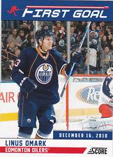 Linus Omark Insert 2011-12 Score Card First Goal #11 Edmonton Oilers
