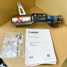 Akrapovic Exhaust Slip-On for BMW S 1000 RR Megaphone Moto GP Style Stubby