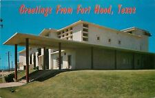 Fort Hood Army Base Texas~Main Theatre~1950s Postcard