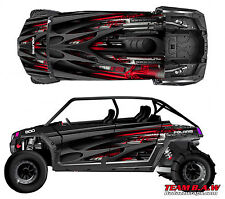 Polaris 4 RZR 900 xp Design Loaded Decal Graphic Kit Wraps Hood Scoop