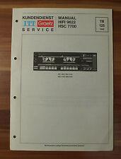 HIFI9622 HSC7700 ITT Graetz Service Kundendienst Service Manual