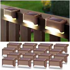 New listing DenicMic Solar Deck Lights 16 Pack Fence Post Solar Lights for Patio Pool Stairs