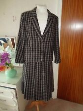 Good Vintage Pure New Wool Eastex Lined Suit Pleated Skirt+Jacket Size 14