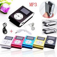 USB Mini Clip MP3 Player LCD Screen Support 8GB/16GB/32GB Micro SD TF Card NEW