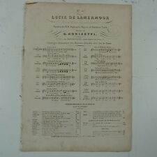 antique songsheet DONIZETTI lucie de lamermoor no.4 , duo