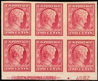 368, VF NH Bottom Plate Block of Six Stamps Cat $390.00 - Stuart Katz