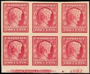 368, VF NH Bottom Plate Block of Six Stamps Cat $390.00 - Stuart Katz