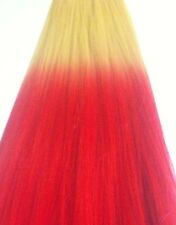 """Hair Extension Weaving Weft 24"""" Ombre Blond / Pink 100% Htf Synthetic Fiber #P"""