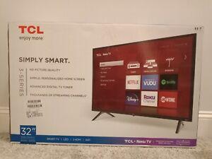 "TCL - 32"" Class 3-Series LED Full HD Smart Roku TV (NEW/OPEN BOX)"