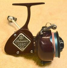 """Vintage Shakespeare 2062 Ef """"Royal Maroon� Spinning Reel - 1965 w. Box & Wrench"""