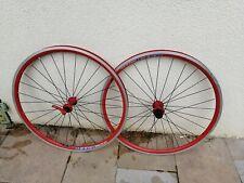 Paire de Roue de Vélo 650 MACH 510 Rouge