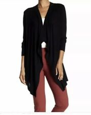 Theory Winxie F Soft Luster Open Loose Cardigan Size M $275 Dark Night Navy Blue
