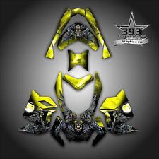 SKI-DOO REV XP SNOWMOBILE SLED GRAPHICS DECAL WRAP STICKER KIT GUARDIAN YELLOW