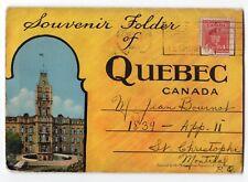 Ville de QUEBEC QC Canada 1945 PECO Postal Souvenir Folder