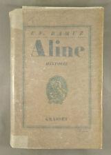 C.-F. RAMUZ / ALINE / 1927 GRASSET