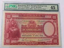 Hong Kong, 1948 100 Dollars P176e PMG 45