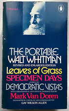 THE PORTABLE WALT WHITMAN.GAY WILSON ALLEN.COMPLETE.1ST S/B 1977 PENGUIN,UNREAD