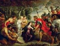Renaissance Wall Art Painting Print CANVAS Meeting Of David And Abigail Rubens S