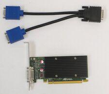 NVIDIA Quadro NVS 300 512MB DDR3 SDRAM x16 PCIe DUAL DISPLAY CABLE GRAPHICS CARD