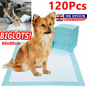 120X HEAVY DUTY DOG PUPPY LARGE TRAINING WEE WEE PADS FLOOR TOILET MAT 60 x 60cm