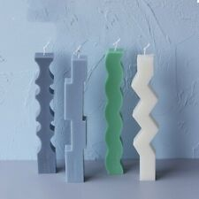 Silicone Long Candle Soap Mold Chocolate Mould Wax Resin Casting Making Tool